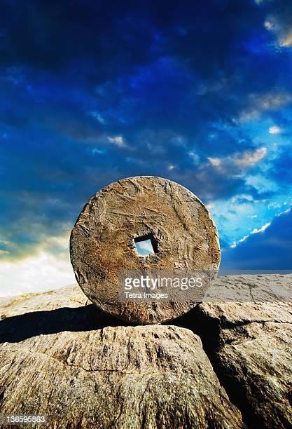 USA, New York City, Ancient stone circle