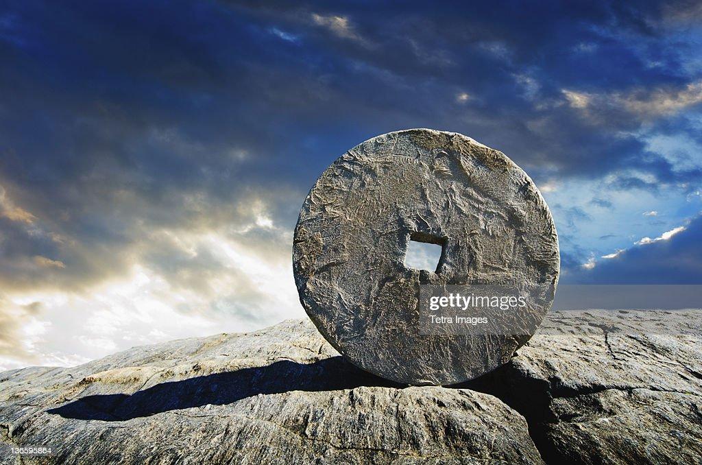 USA, New York City, Ancient stone circle : Stock Photo