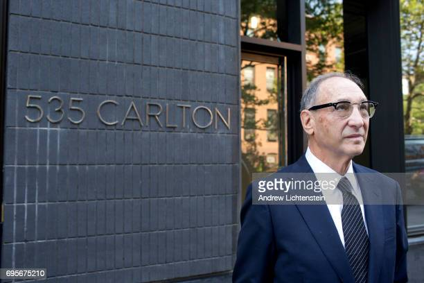 New York City and Atlantic Yards real estate developer Bruce Ratner attends a ribbon cutting ceremony for a new building in the Atlantic Yards...
