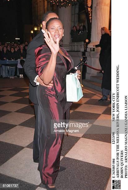 New York City Arrivals For The Melissa Rivers John Endicott Wedding Robin Quivers