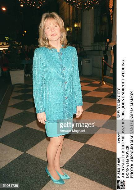 New York City Arrivals For The Melissa Rivers John Endicott Wedding Donna Hanover