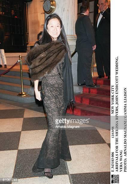 New York City Arrivals For The Melissa Rivers John Endicott Wedding Vera Wang