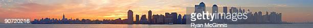 new york city at dawn panorama - ryan mcginnis stock photos and pictures