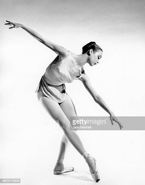 New York City Ballet dancer Allegra Kent performing in 1962