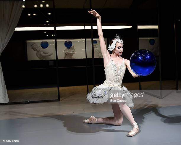 New York City Ballet dancer Ashley Laracey performs during the Jeff Koons x Google launch on May 09 2016 in New York New York