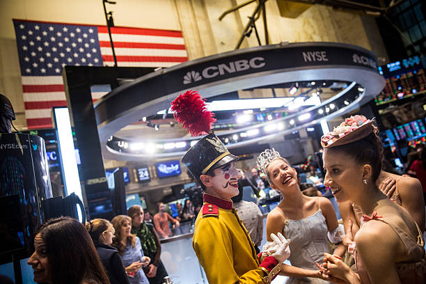 Characters from the nutcracker help open nyse on for Floor nutcracker