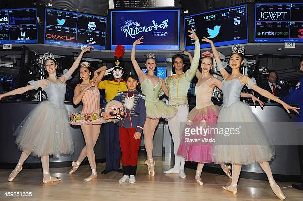 New York City Ballet George Balanchine's The Nutcracker principal dancers Sara Mearns and Zachary Catazaro with fellow cast members visit the New...