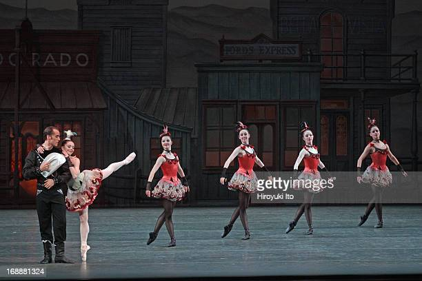 New York City Ballet performing in its American Music Festival at the David H. Koch Theater on Friday night, May 10, 2013.This image:Megan Fairchild...