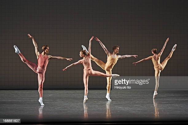 New York City Ballet performing in its American Music Festival at the David H Koch Theater on Friday night May 10 2013This imageFrom left Adrian...