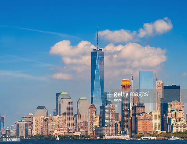 new york city, battery park - world trade center manhattan stock pictures, royalty-free photos & images
