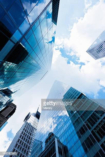 Bleu New York City Manhattan Skyscapers quartier financier de Wall Street