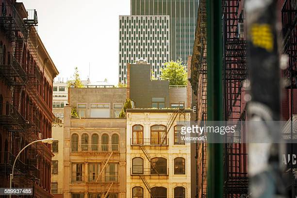 USA, New York City, Buildings in SoHo