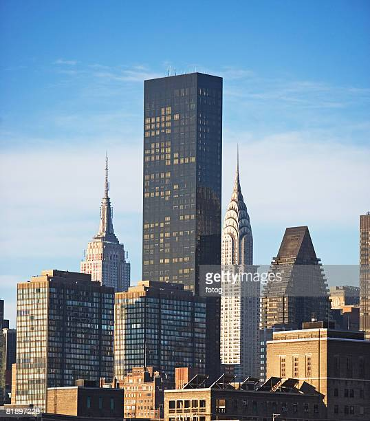 new york city, buildings - trump tower fifth avenue manhattan stock photos and pictures