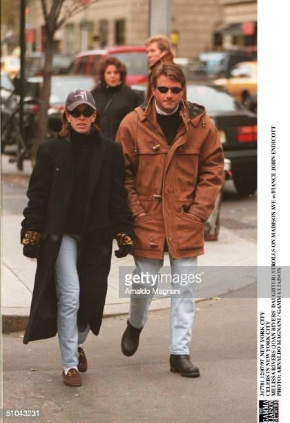 New York City Celebs In New York City Melissa Rivers Strolls On Madison Ave W/Fiance John Endicott