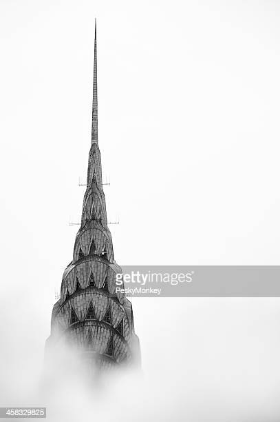 New York City Chrysler Building Stands Above Steam Clouds