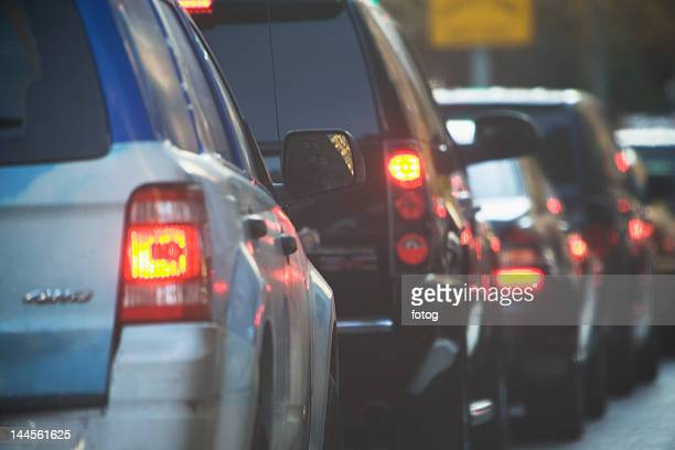 new york city, city traffic - tail light stock pictures, royalty-free photos & images
