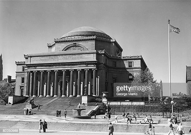 usa, new york city, columbia university, low memorial library - columbia university stock pictures, royalty-free photos & images