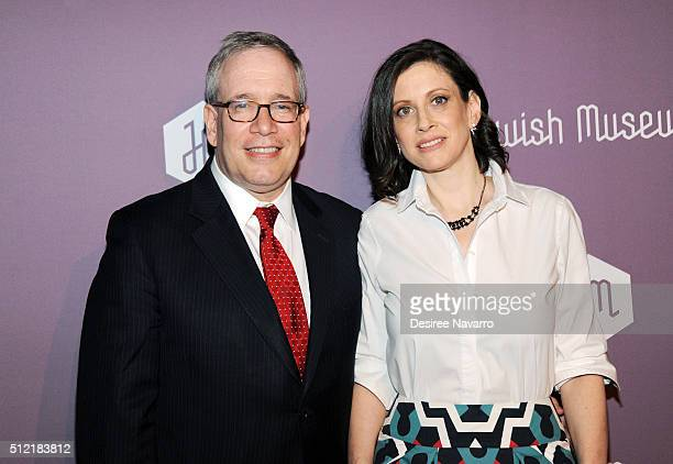 New York City Comptroller Scott Stringer and his wife Elyse Buxbaum attend The Jewish Museum's Purim Ball 2016 at Park Avenue Armory on February 24...
