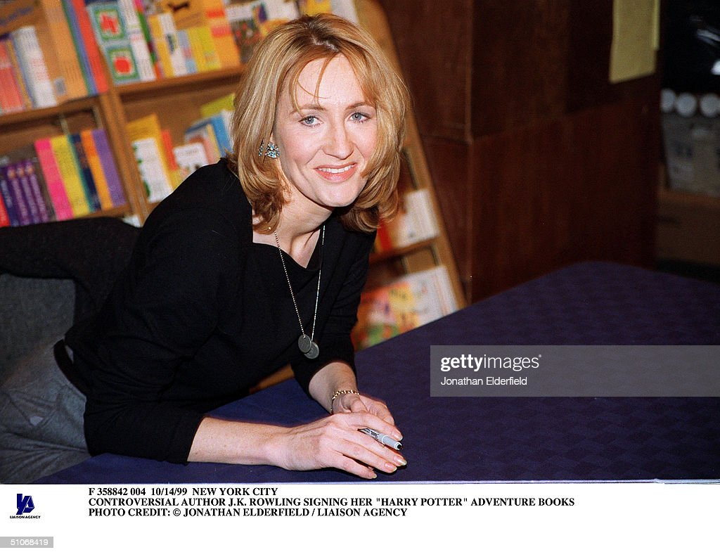 Controversial Author J K Rowling Signing Her Harry Potter Adv : News Photo