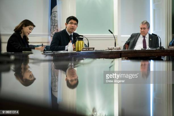 New York City Council member and chairman of the Committee on Immigration Carlos Menchaca speaks during a committee hearing concerning the targeting...