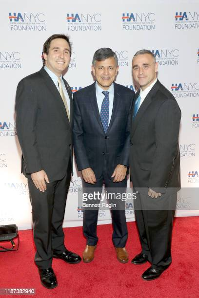 New York City Council Member Ben Kallos Vijay Dandapani and Austin Shafran attend The Red Carpet Hospitality Gala Hosted by the Hotel Association Of...