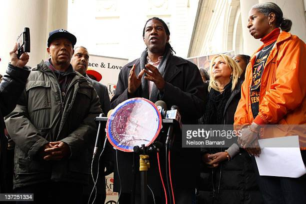 New York City council member Jumaane D Williams speaks at the 3rd Annual NY Peace Week Press Conference to help combat the culture of violence in New...