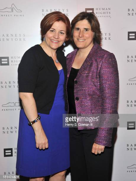 New York City Council Speaker Christine C. Quinn and Kim Catullo attend a cocktail party at Barneys New York on September 7, 2012 in New York City.