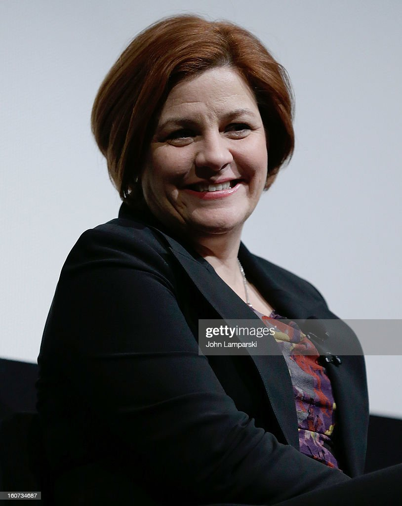New York City Council Speaker Christine Quinn attends Same-Sex Marriage: Law & Culture Press Conference With Debra Messing at Time Warner Screening Room on February 4, 2013 in New York City.