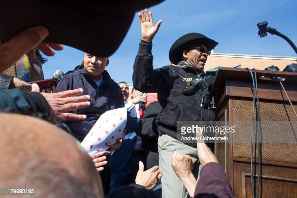 New York City Councilman Ruben Diaz Sr. Leads a rally outside his office to protest his suspension from a city council committee for making comments...