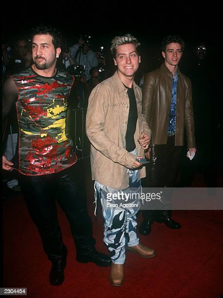 New York City 'Coyote Ugly' premiere screening at the Ziegfeld Theatre From 'NSYNC' Joey Fatone Vance Bass Justin Timberlake Photo by Evan...
