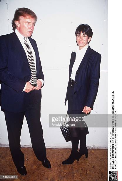 New York City Donald Trump Out On The Town With Ghislaine Maxwell