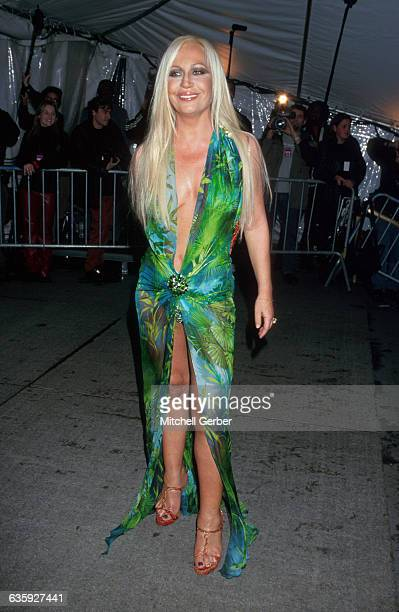 New York City Donatella Versace at the 1999 'Rock Style' Gala at the Met