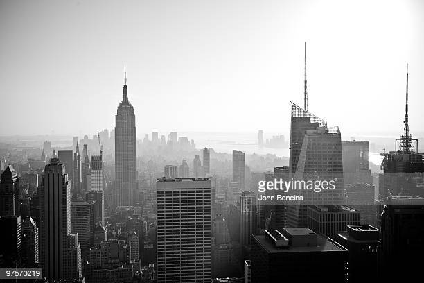 new york city downtown black and white - monochrome stock pictures, royalty-free photos & images