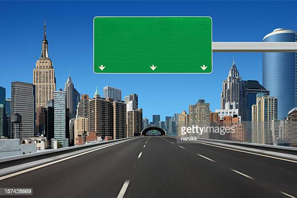 new york city drive - billboard highway stock pictures, royalty-free photos & images