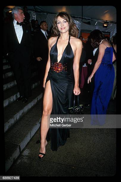 New York City Elizabeth Hurley at the 1999 'Rock Style' Gala at the Met