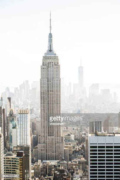 usa, new york city, empire state building - empire state building stock pictures, royalty-free photos & images