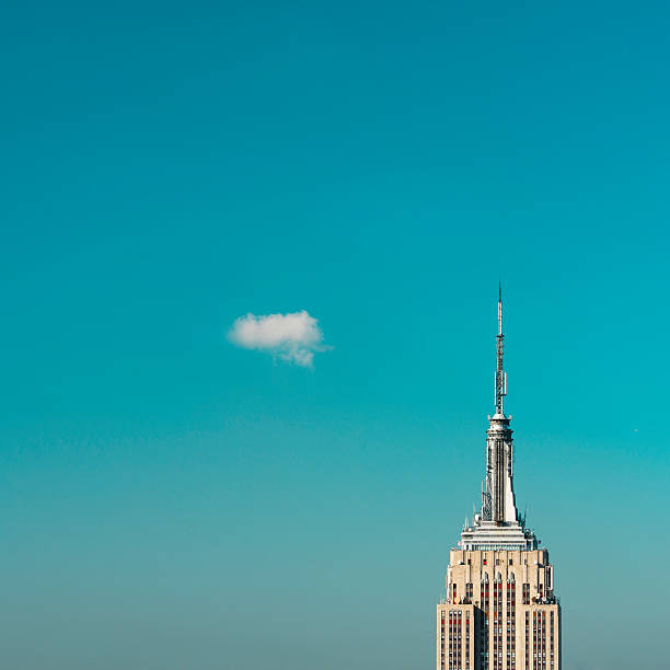USA, New York City, Empire State Building pinnacle