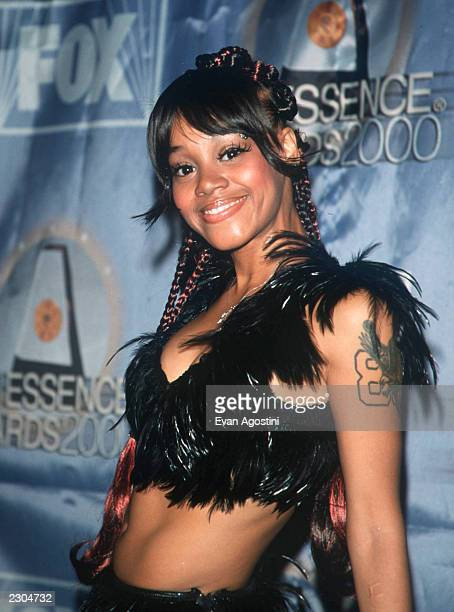New York City Essence Awards 2000 at Radio City Music Hall TLC member Lisa 'LeftEye' Lopes wearing a seethru feather outfit Photo by Evan...