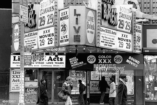 New York City Exterior Of Peep Show Theater/ Adult Bookstore 1970'S