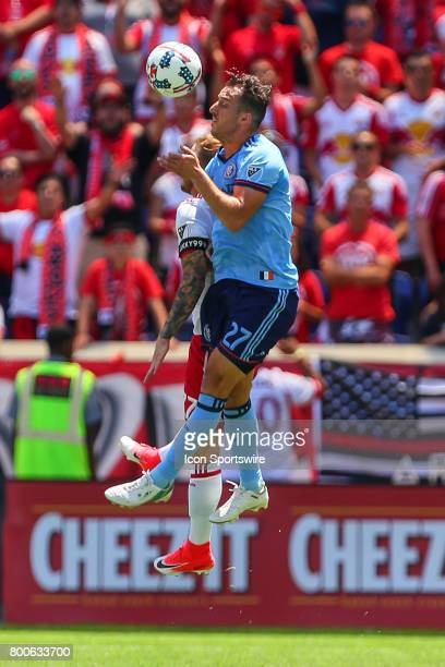 New York City FC defender RJ Allen during the first half of the Major League Soccer game between the New York Red Bulls and New York City FC on June...