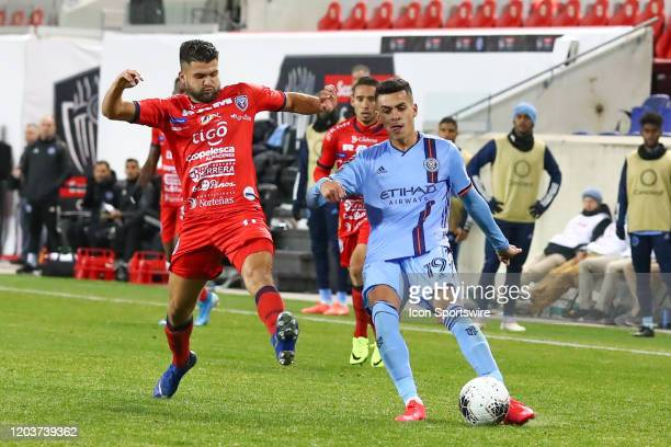 New York City FC forward Jesus Medina during the Scotiabank Concacaf Champions League game between AD San Carlos and New York City FC on February 26,...