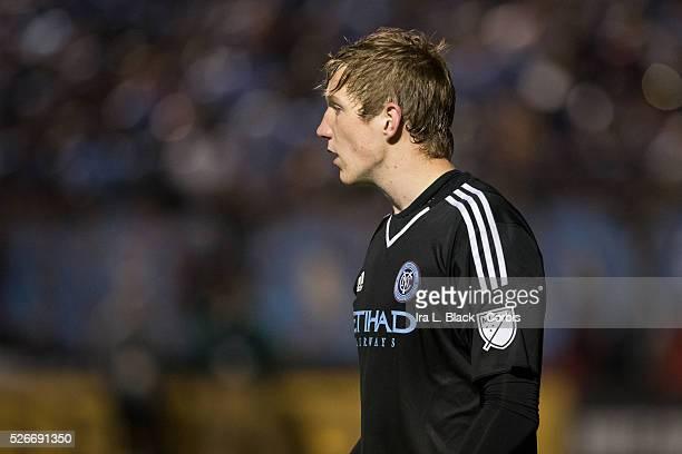 New York City FC goalkeeper Eirik Johansen during penalty kicks during the Soccer 2015 Lamar Hunt US Open Cup Fourth Round New York City FC vs NY...