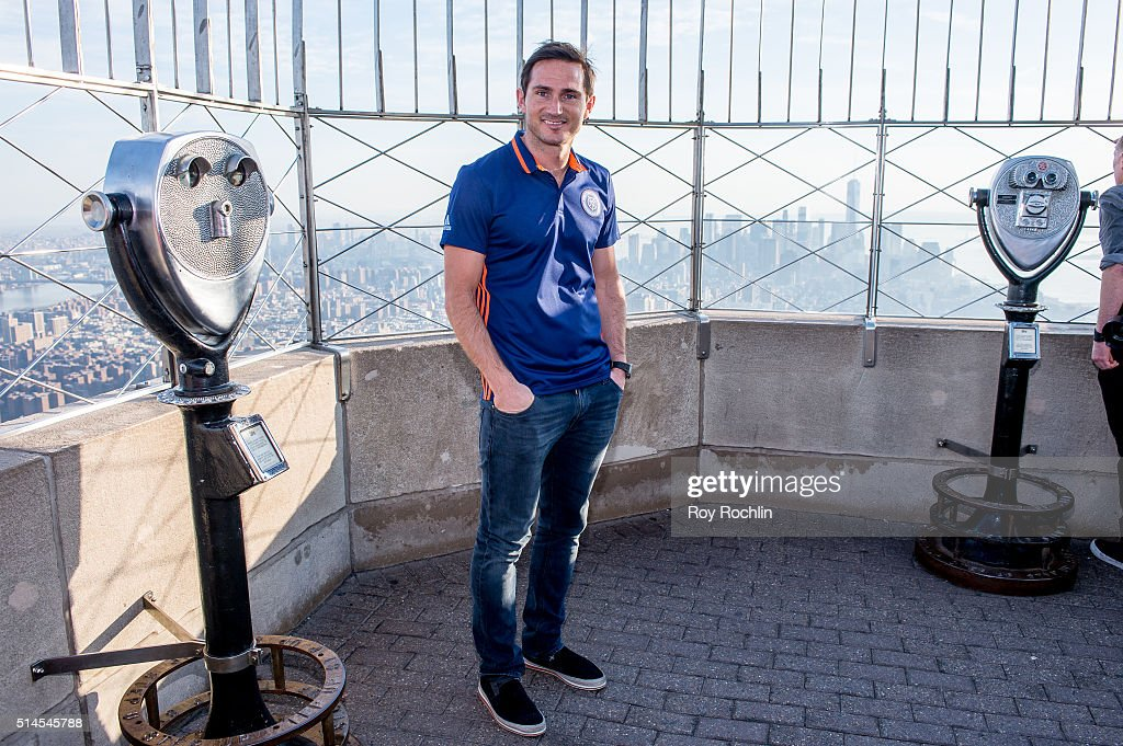 New York City FC Midfielder Frank Lampard Visits Empire State Building