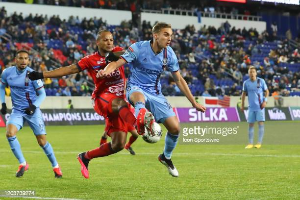 New York City FC midfielder James Sands during the Scotiabank Concacaf Champions League game between AD San Carlos and New York City FC on February...