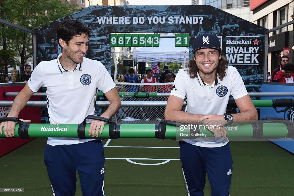 MLS Heineken Rivalry Week Human Foosball Soccer event : News Photo