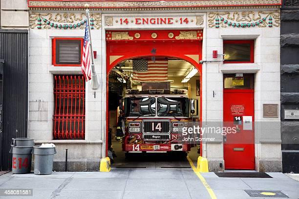 de new york city fire estação, motor 14 - fire station - fotografias e filmes do acervo