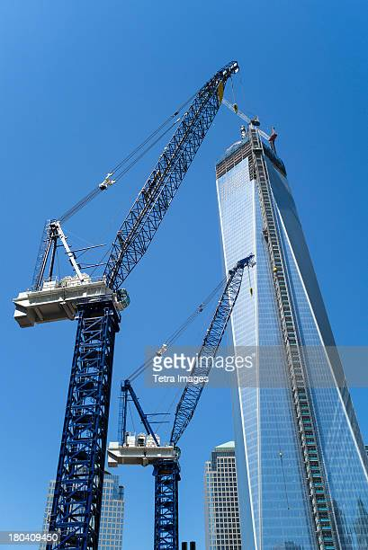 USA, New York City, Freedom Tower under construction