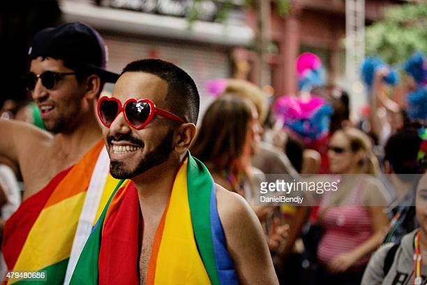 new york city gay pride parade 2015 - march month stock pictures, royalty-free photos & images