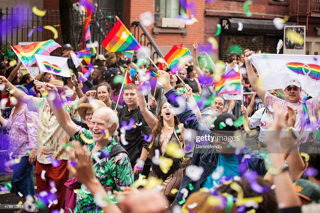 ニューヨーク市ゲイプライドパレード 2015 年 : ストックフォト