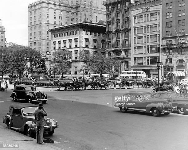 new york city, general sherman statue - 四輪馬車 ストックフォトと画像